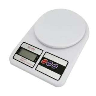Digital 5KG/1G LCD Electronic Kitchen Weighing Scale WHITE