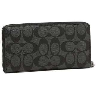PRICE REDUCED! Brand new Coach Charcoal Black Long Wallet