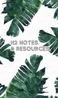 h2 notes & resources