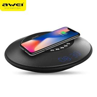 AWEI Y290 Portable bluetooth Speaker w/ wireless Charger