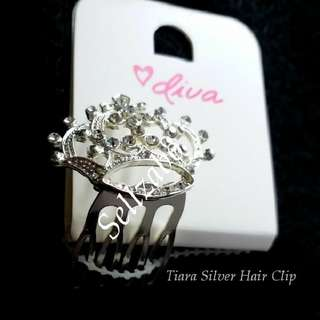 Princess Silver Small Tiara Hair Clip Head Accessories Crown Princess Wedding Photoshoot Photoshooting Queen Sellzabo