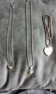 銀頸鏈兩條連贈品