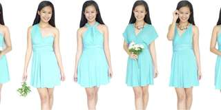 Convertible Dress 👗 - Tiffany color