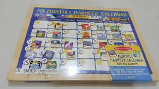 M & D monthly magnetic calendar