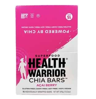 Health Warrion Inc. 奇亞籽能量棒 巴西莓味 (15條)