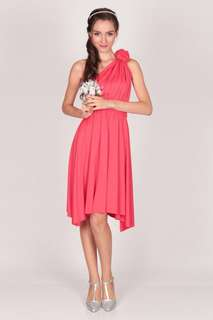 Convertible Dress - Coral color