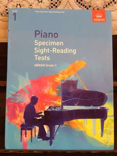 Piano specimen Sight-Reading tests ABRSM grade1