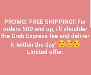 PROMO!! Free Grab Express Delivery