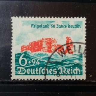 [lapyip1230] 納粹德國 1940年 希利高蘭回歸德國五十年 舊票全套 (驚人附捐面額) VFU