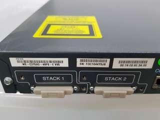 Cisco ws-c3750g-48ps-e v05 CATALYST 3750 48 10/100/1000T POE + 4 SFP + IPS IMAGE