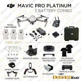 MAVIC PRO PLATINUM 3 BATTERY COMBO