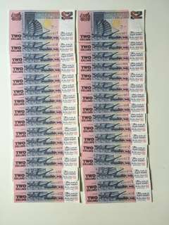 $2 ship series Singapore currency notes