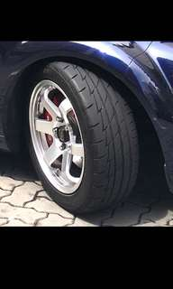 Silver Rays TE37 rep 16 inch 5x114.3pcd with tyres
