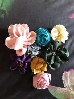 Sweet Fabric Flower Brooch