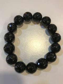 Black Tourmaline-Facetted Bracelet