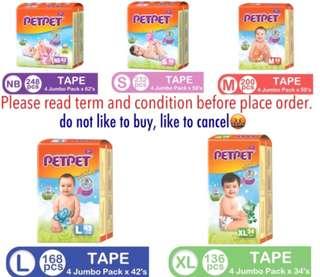 Pampers 4 packs