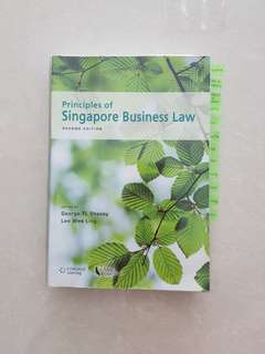 Principles of Singapore Business Law (2nd Edition) + Notes