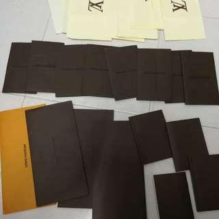 Original louis vutton envelop n receipt n manual