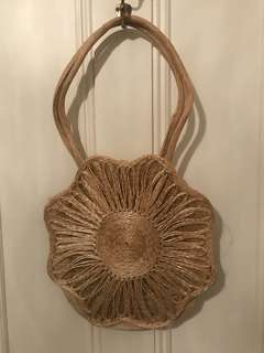 Straw hand made bag
