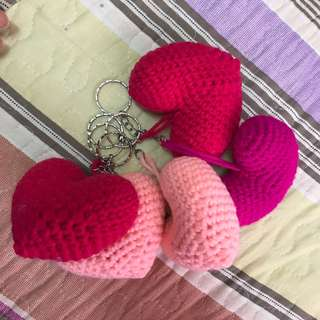 Love crochet keychain