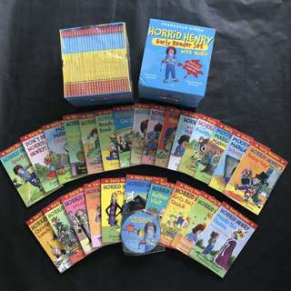 💥 NEW- Horrid Henry Early Reader 25 books Set with CD - Children Story books