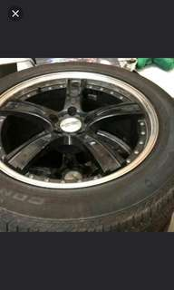 19' Continental Sports tyres with rims