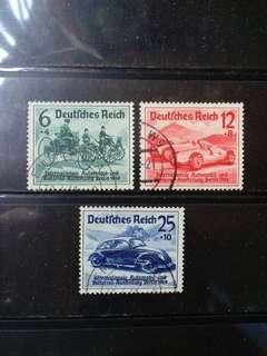 [lapyip1230] 納粹德國 1939年 柏林國際車展(郵票首現甲蟲車) 舊票全套 Set VFU