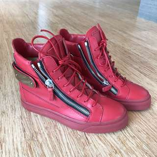 Giuseppe Zanotti Red Leather shoes (Size 36)