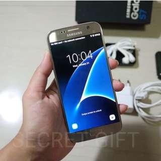 Samsung Galaxy S7 Flat Gold non Edge, Wifi Only, Mulus, SEIN Original