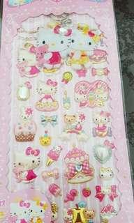 Hello Kitty Horoscopes Stickers with Key Chain