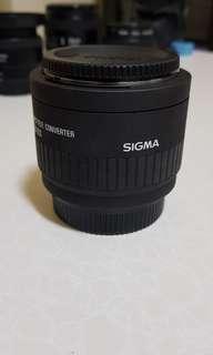 Sigma APO 2x teleconverter for Nikon mount
