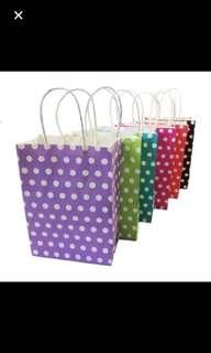 Polka dot paper bag