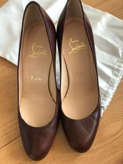 Authentic Christian Louboutin 8mm heels size 36.5