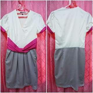 Gaun Pesta Gaun Gereja Gaun Malam Premium Gaun Pink Gaun Putih SOLEMIO Premium Pink Dress