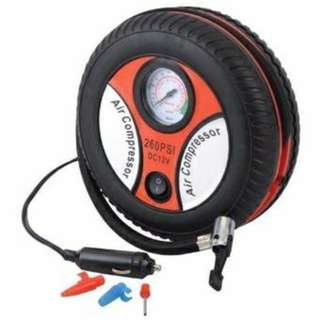 260PSI DC12V Auto Car Pump Tyre Inflator Mini Air Compressor