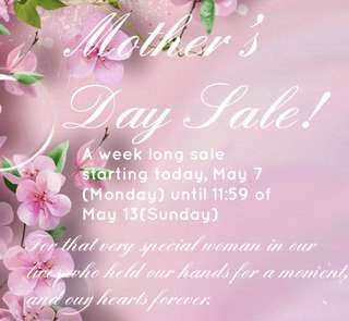 Mother's Day Sale!🌷