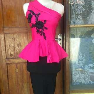 Setelan Pink hitam
