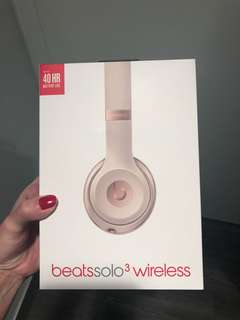 New Beats solo 3 matte gold