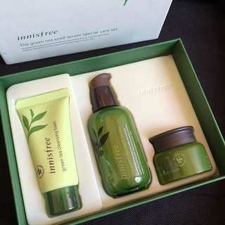 Innisfree green tea serum SET