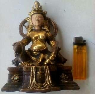 Patung Thailand perunggu lapis emas