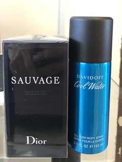 Dior sauvage & DavidOff Cool Water