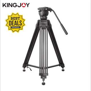 KINGJOY VT-2500 Video Tripod Kit  with 360°Panorama Pan Fluid Head