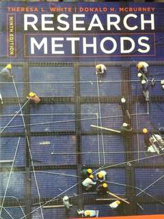 Research Methods (HP1100) Textbooks