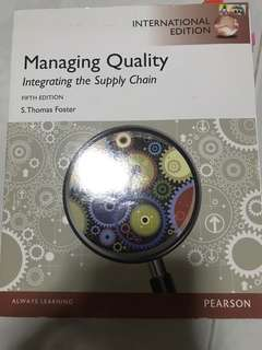 Managing Quality: Integrating the Supply Chain - 5th Edition