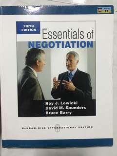Essentials of Negotiation- 5th Edition