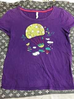 a la sha 紫色熱氣球上衣