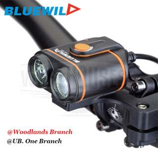BLUEWILD 2400 Lumens Rechargeable light (8.4v 12Ah) for bicycle / escooter / front headlight