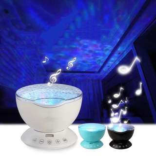 Ocean Wave Starry Sky LED Night Light Projector USB Lamp Nightlight For Baby Children