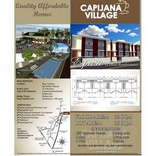 New Pre - Selling Row House For Sale At Capijana Village San Rafael Bulacan