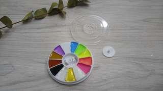 DIY Petite Round Watercolor Palette